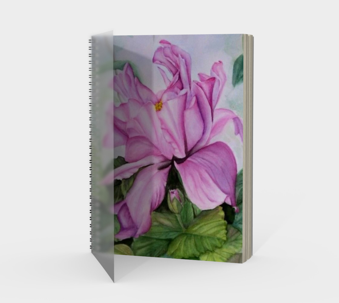 Tropical Orchid Spiral Notebook preview #1