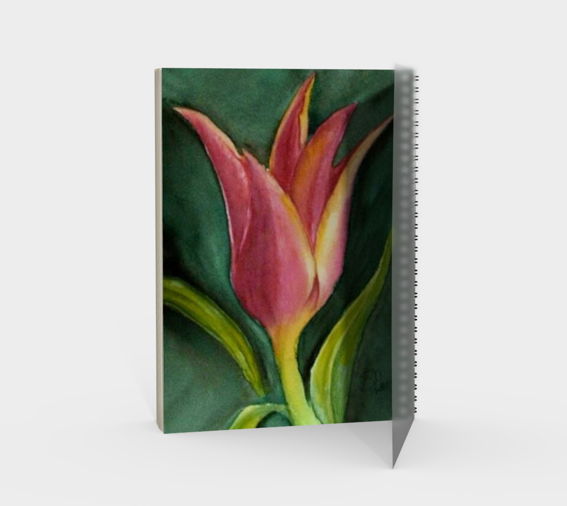 Single Tulip Spiral Notebook preview #2