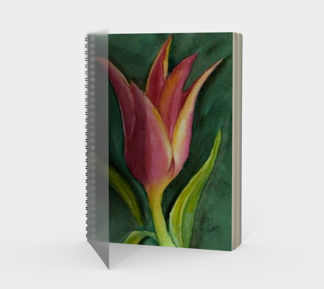 Single Tulip Spiral Notebook preview #1