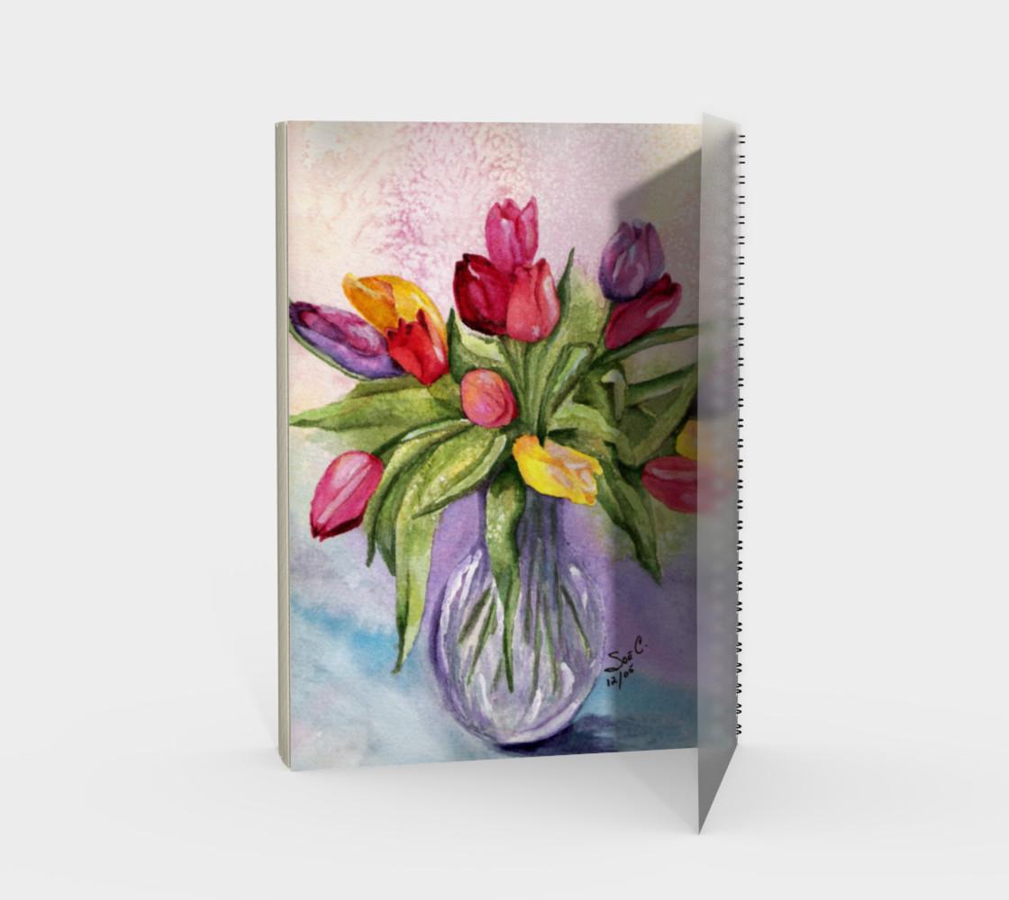 Tulip Bouquet Spiral Notebook preview #2
