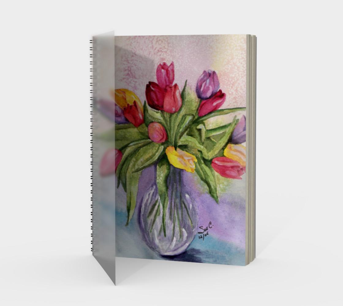 Tulip Bouquet Spiral Notebook preview #1