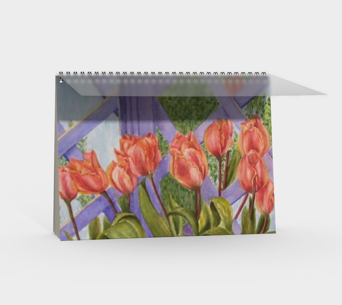 Orange Tulips Spiral Notebook preview #2