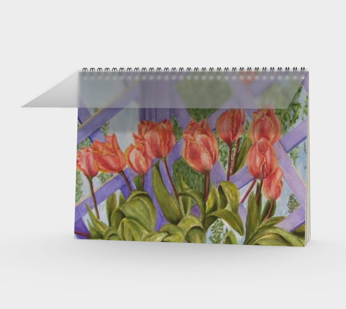 Orange Tulips Spiral Notebook preview #1