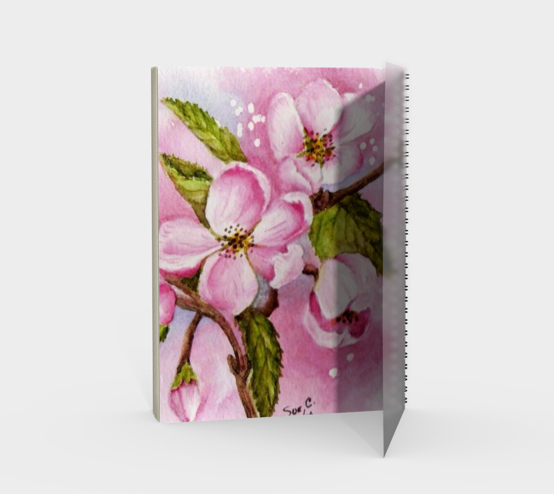 Apple Blossoms Spiral Notebook preview #2