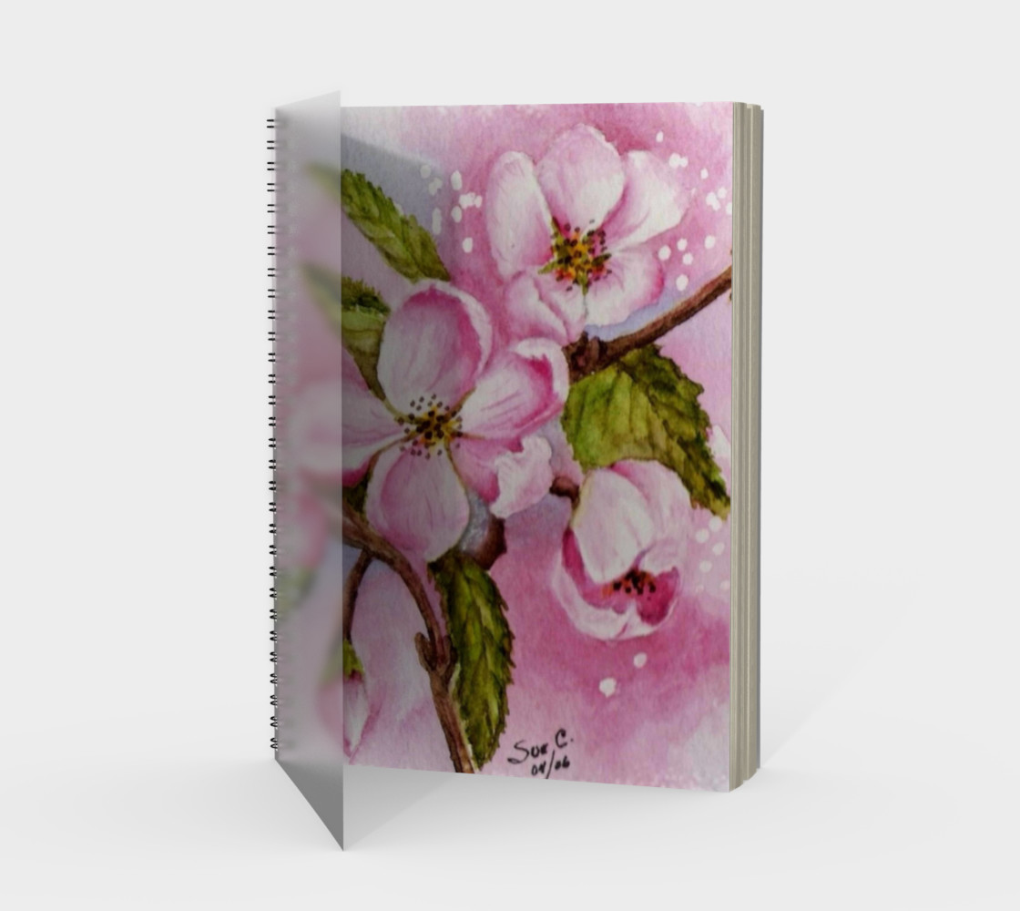 Apple Blossoms Spiral Notebook preview #1