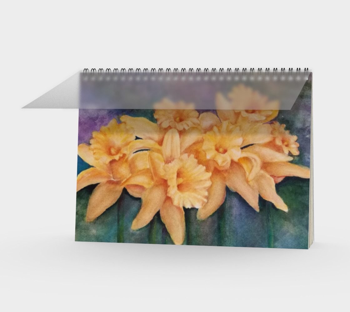 Daffodils Spiral Notebook preview #1