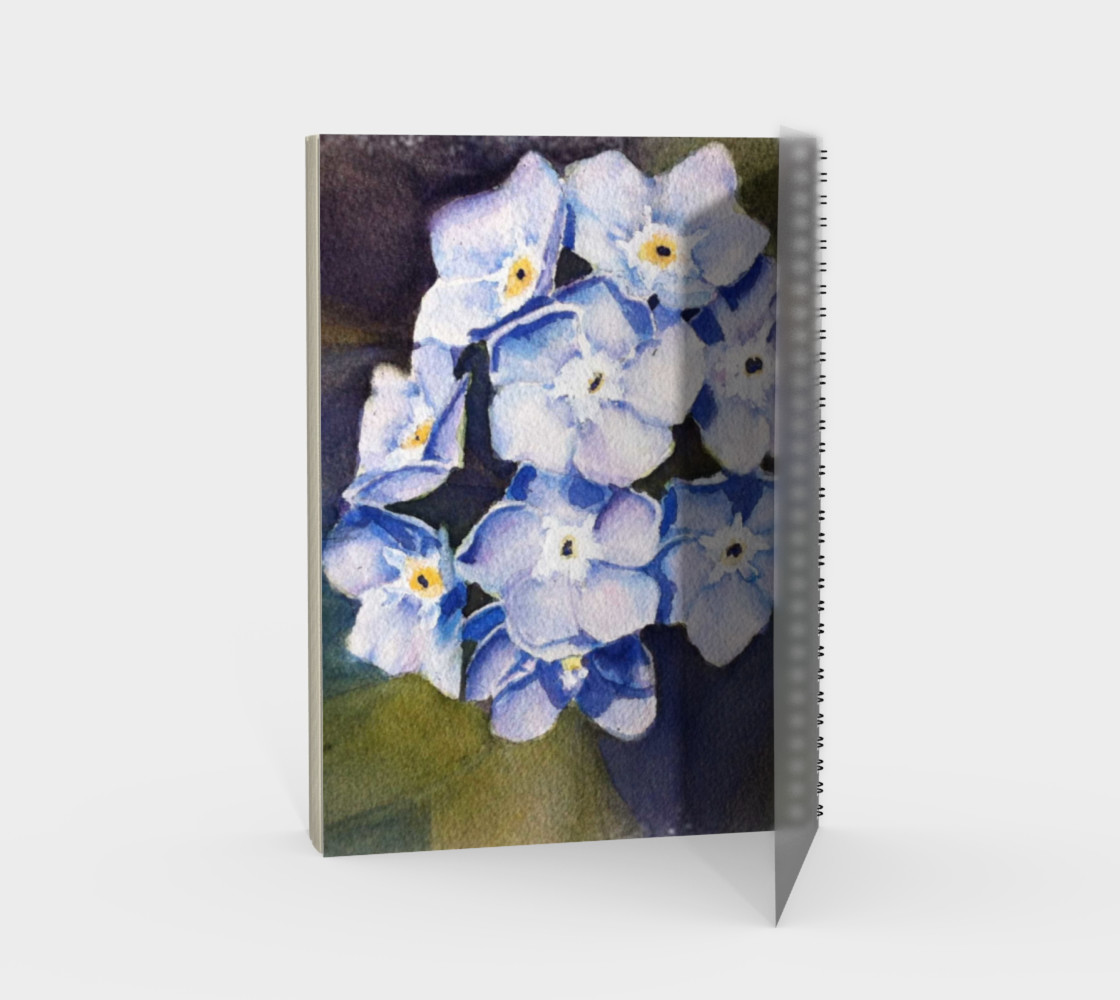 Forget-me-nots Spiral Notebook preview #2