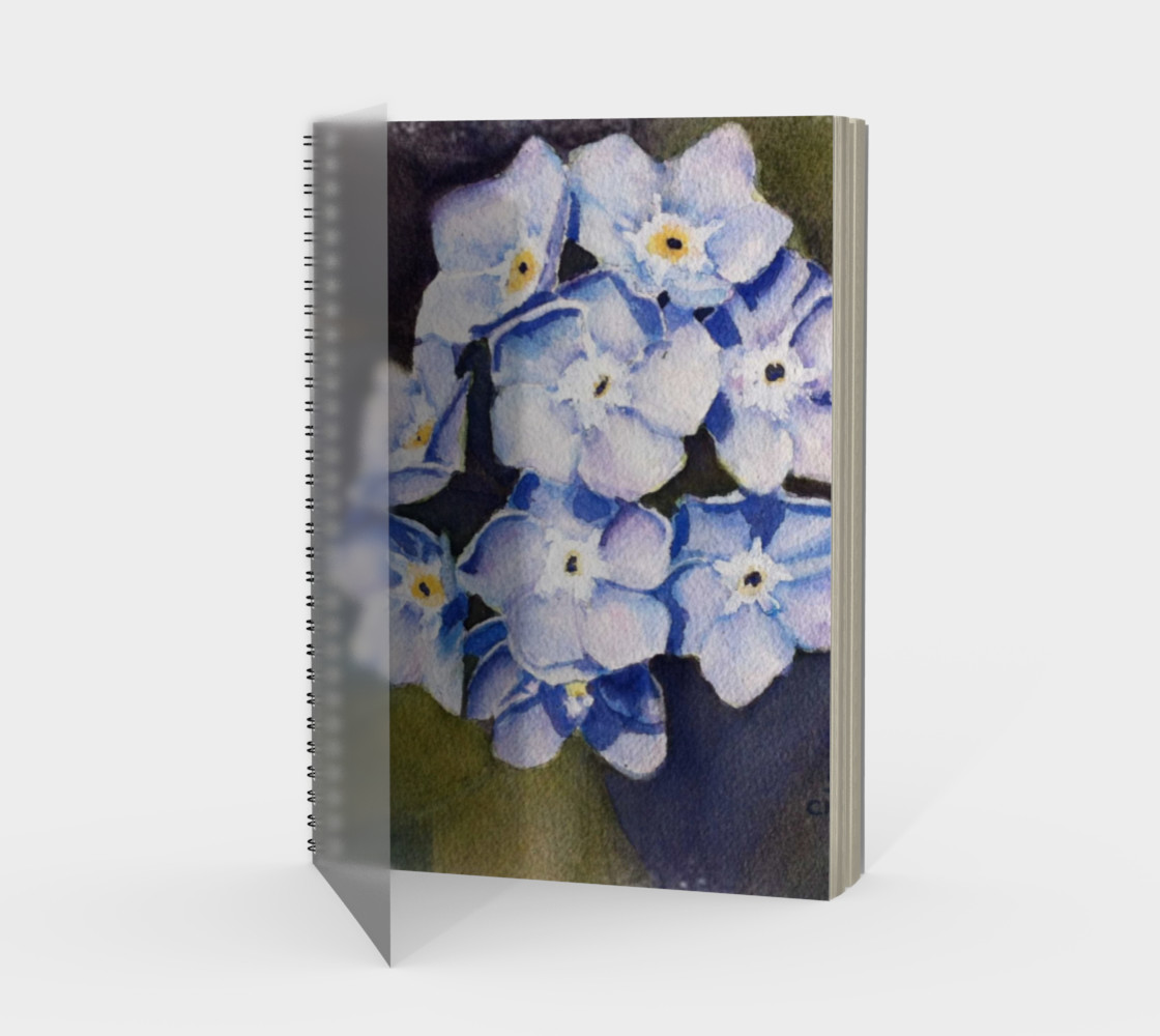 Forget-me-nots Spiral Notebook preview #1