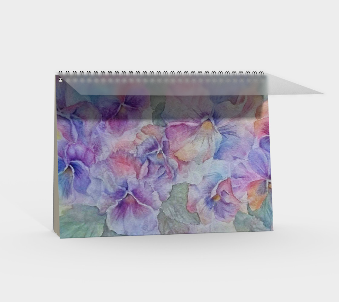 Pansy Party Spiral Notebook preview #2