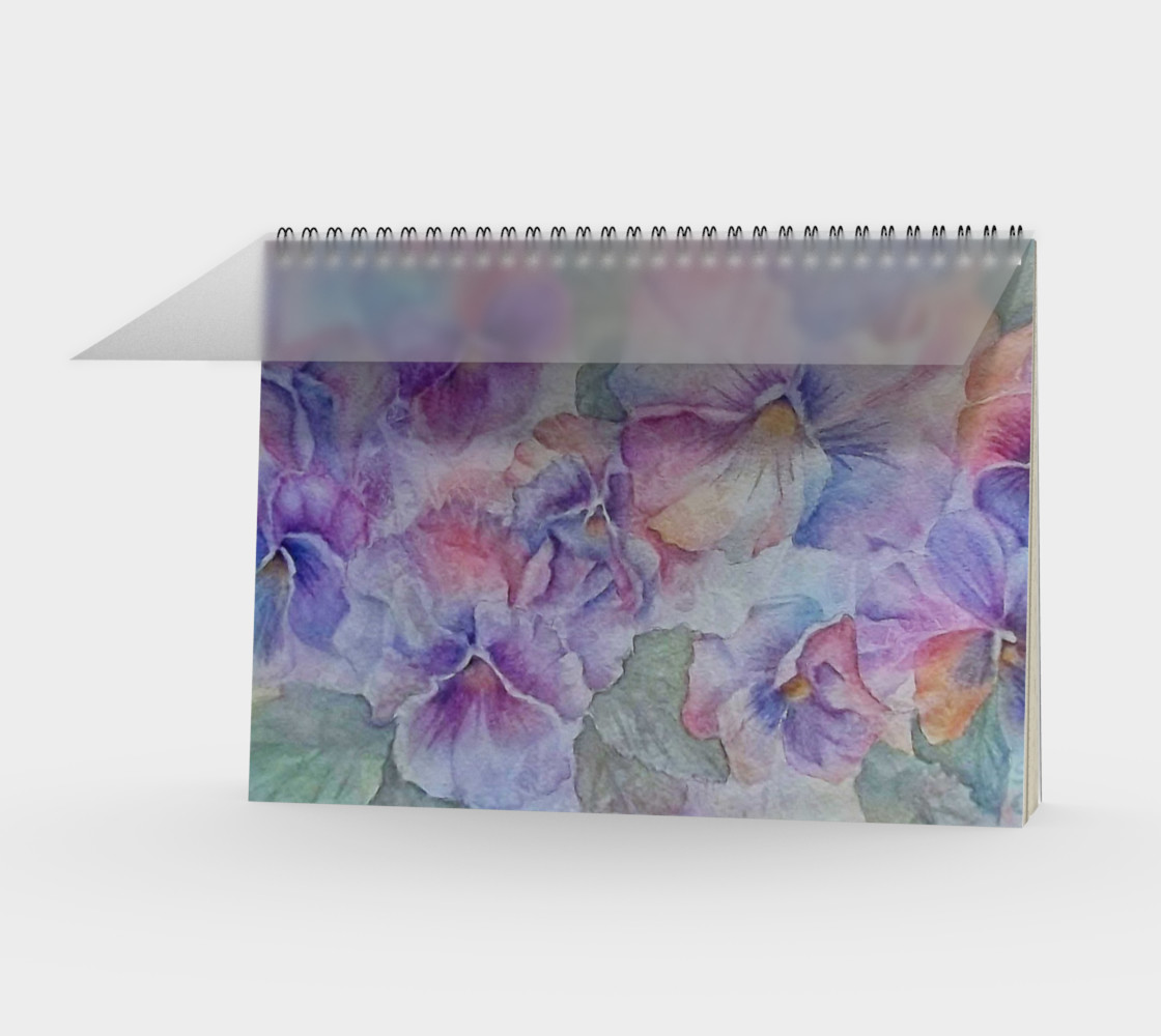 Pansy Party Spiral Notebook preview #1