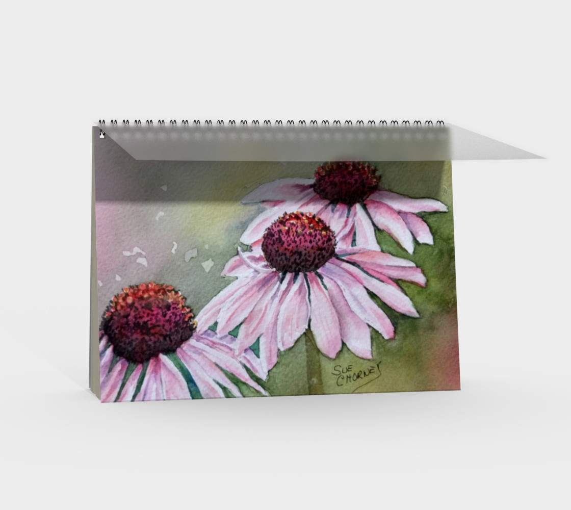 Echinacea Spiral Notebook preview #2
