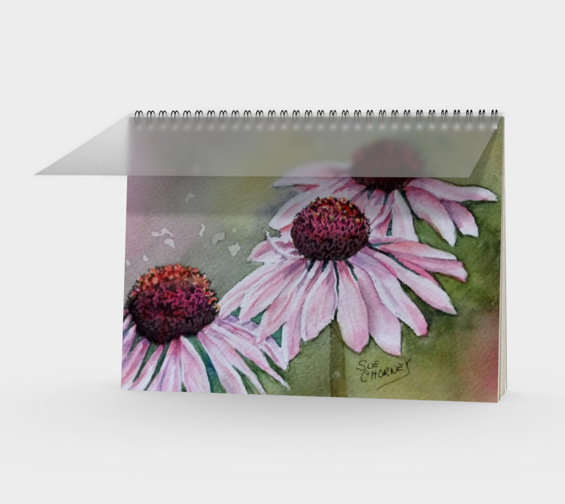 Echinacea Spiral Notebook preview #1