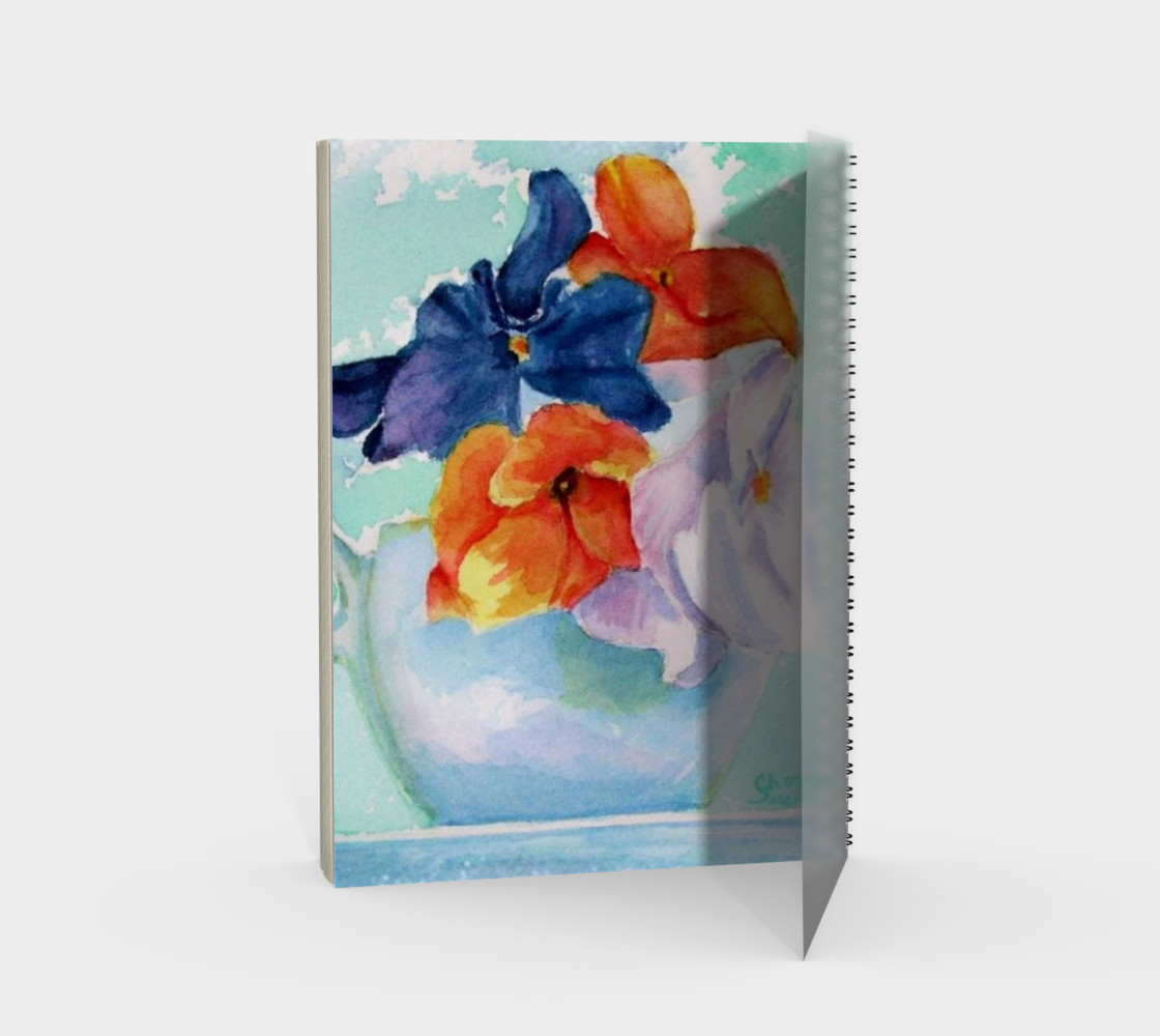 Pansy Cup Spiral Notebook preview #2