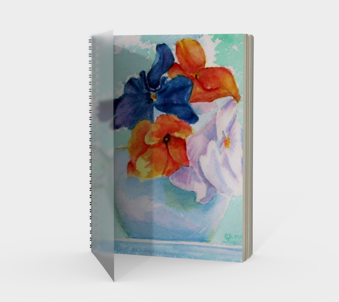 Pansy Cup Spiral Notebook preview #1