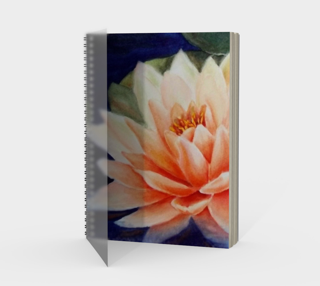 Waterlily Spiral Notebook preview #1