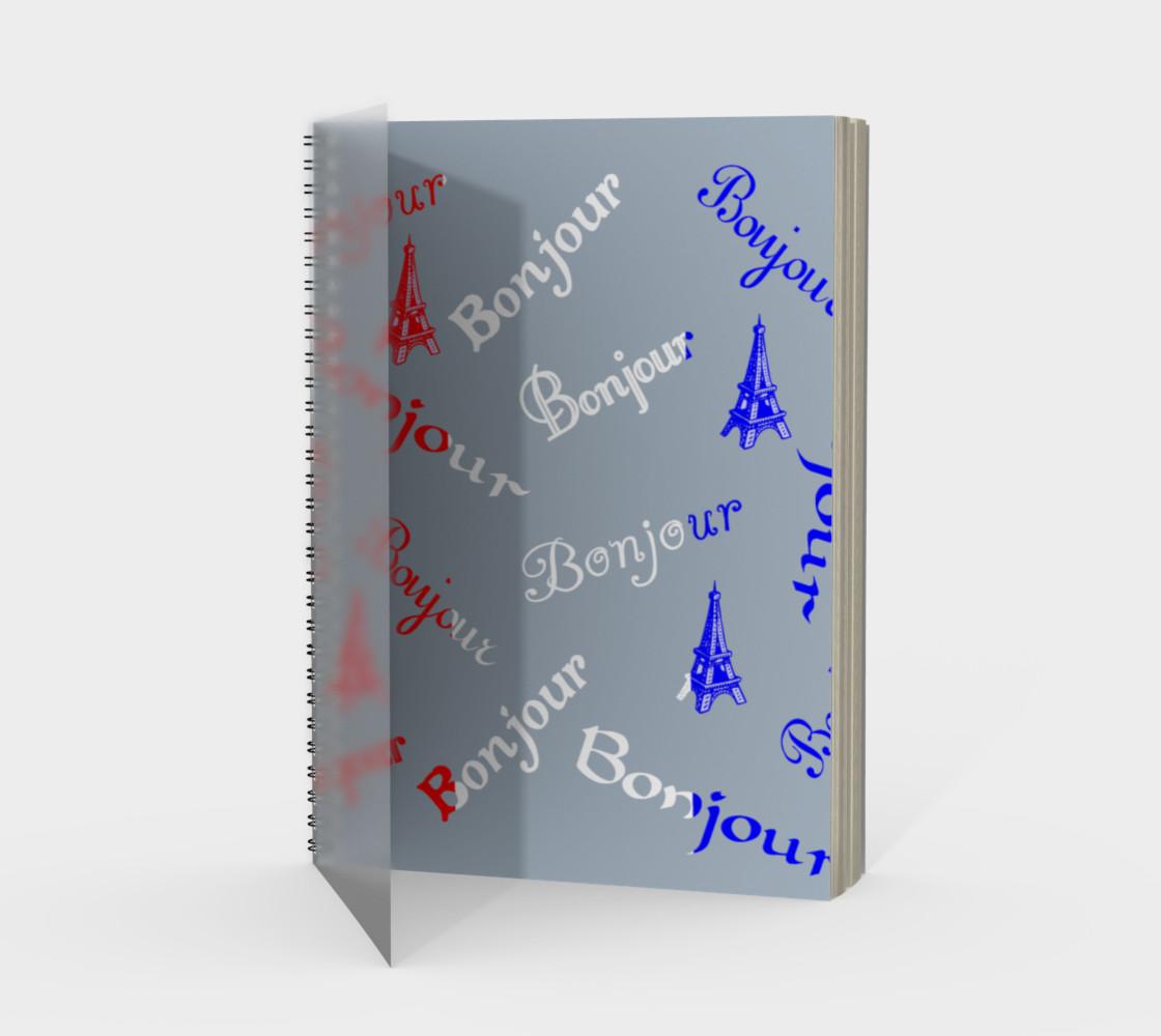 Aperçu de French Flag Bonjour Spiral Notebook #1