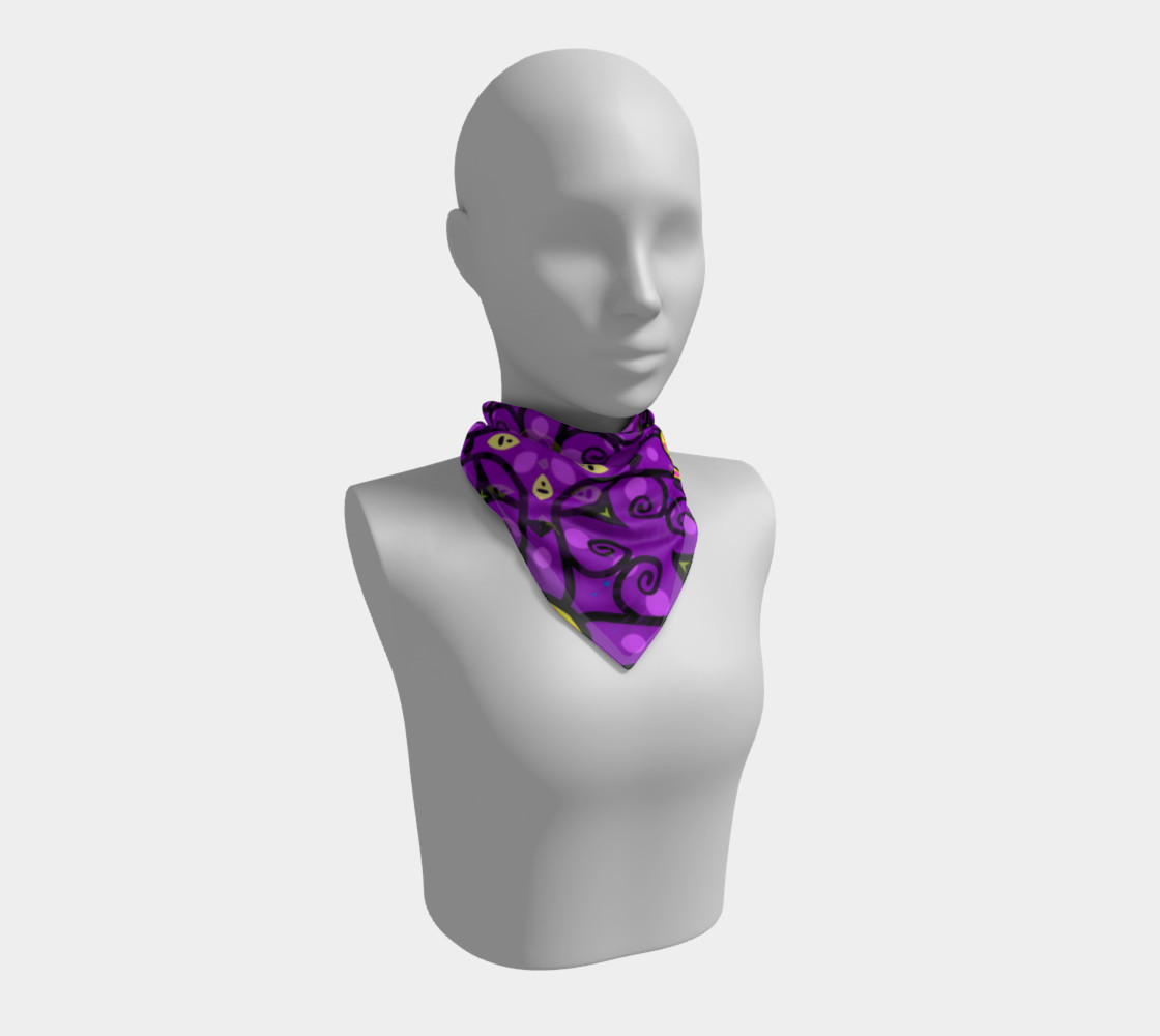 Purple and Gold Square Scarf preview #1