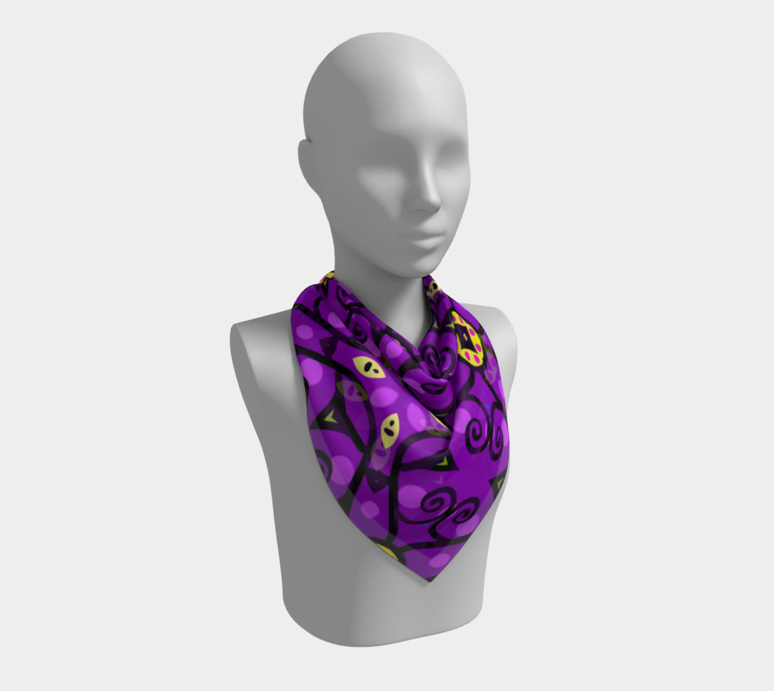 Purple and Gold Square Scarf preview #2