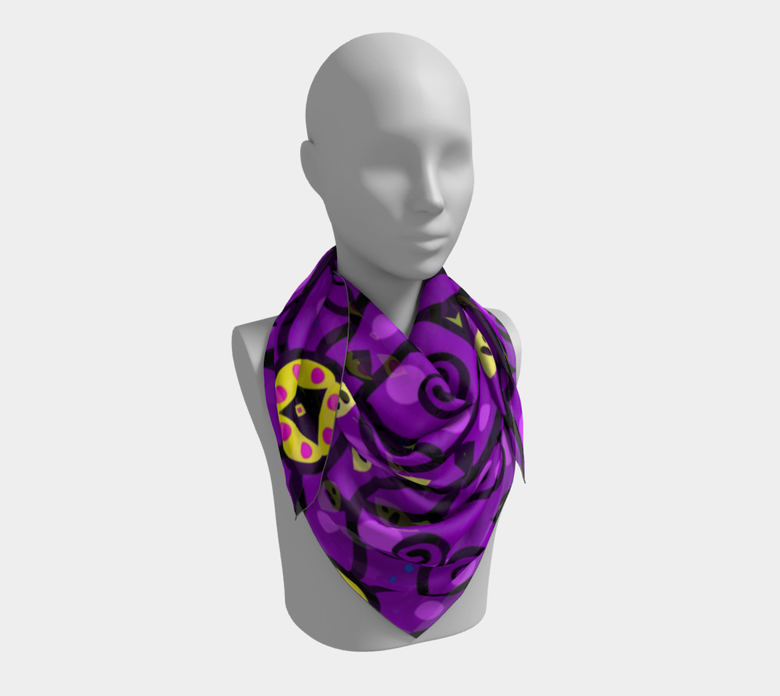 Purple and Gold Square Scarf preview #3