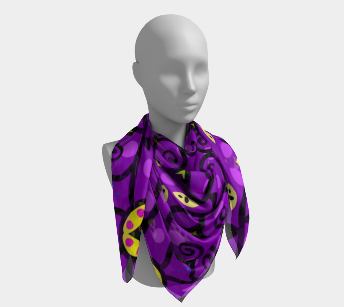 Purple and Gold Square Scarf preview #4