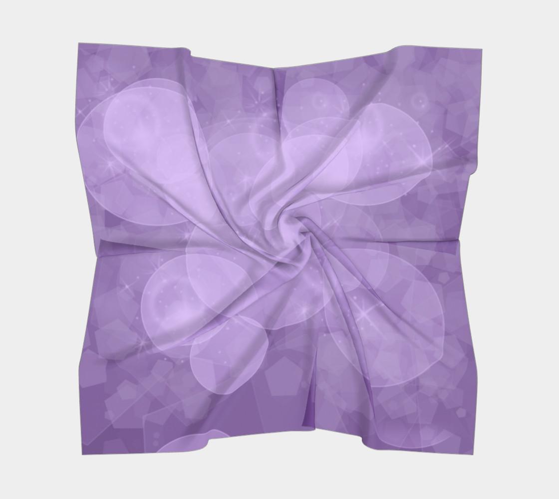 Purple Bubbles Square Scarf preview #5