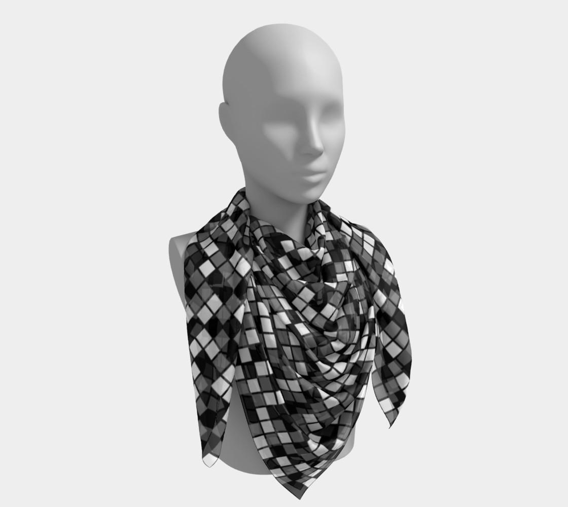 Aperçu de Grey, Black, and White Random Mosaic Squares #4