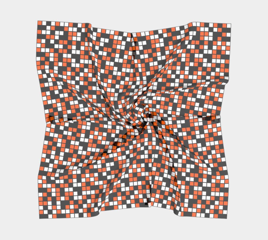Aperçu de Orange, Black, and White Random Mosaic Squares #5