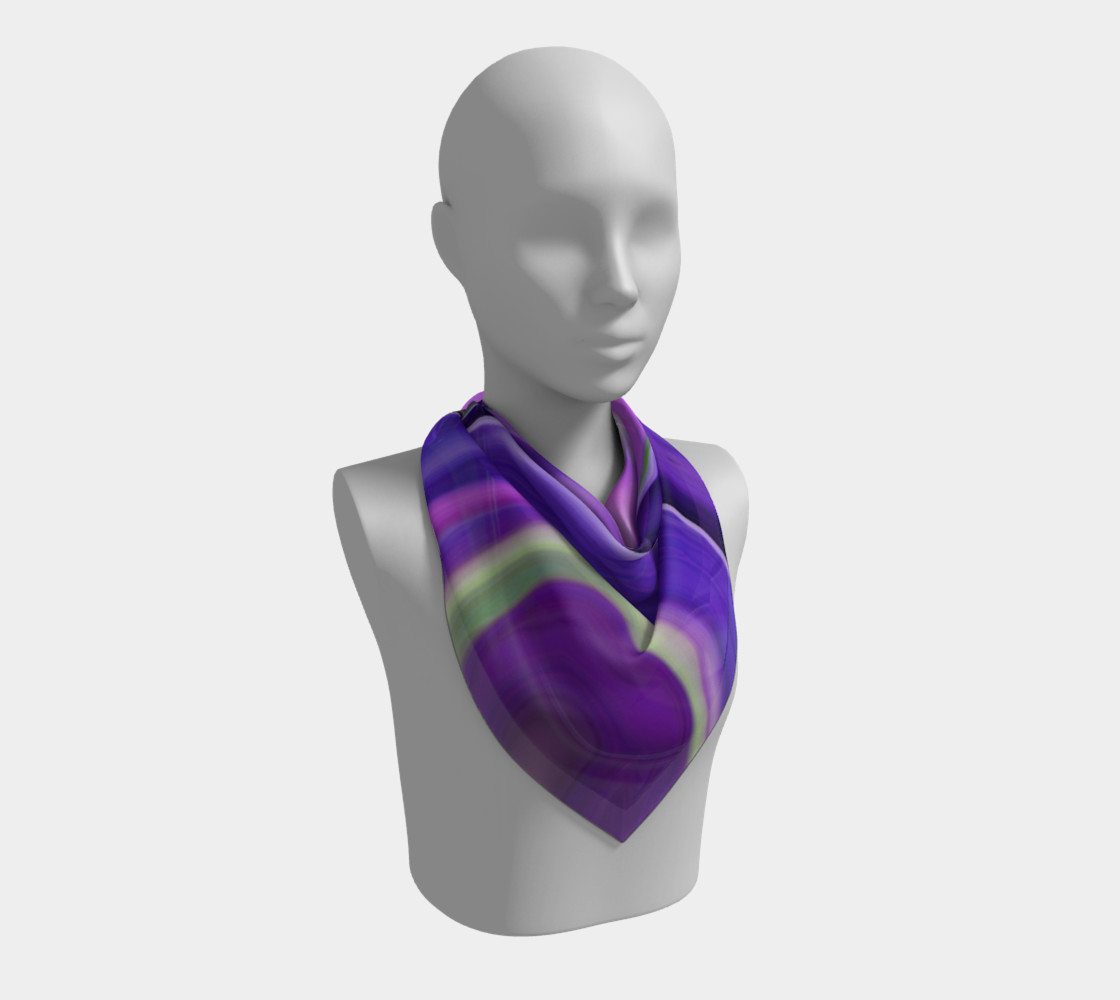 Crocus abstract scarf preview #2