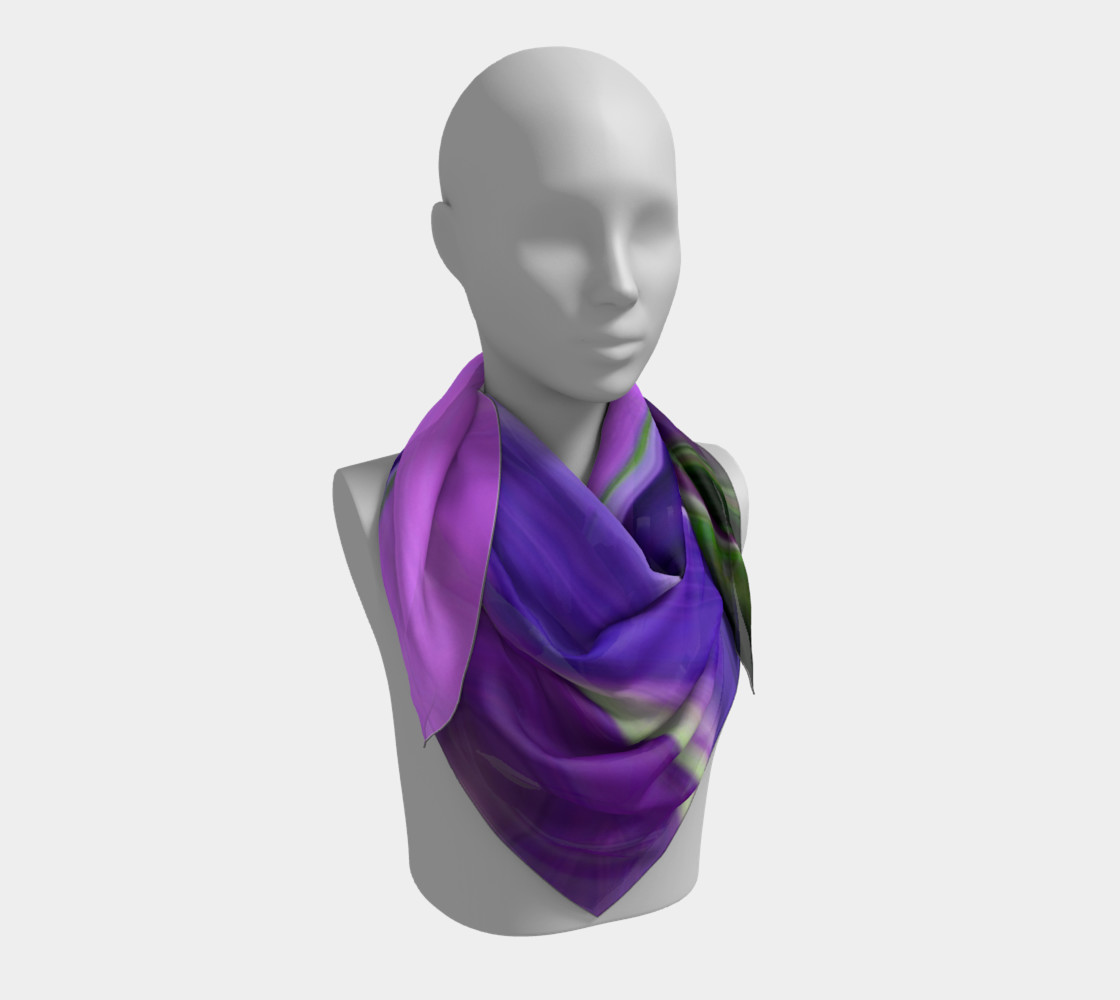 Crocus abstract scarf preview #3
