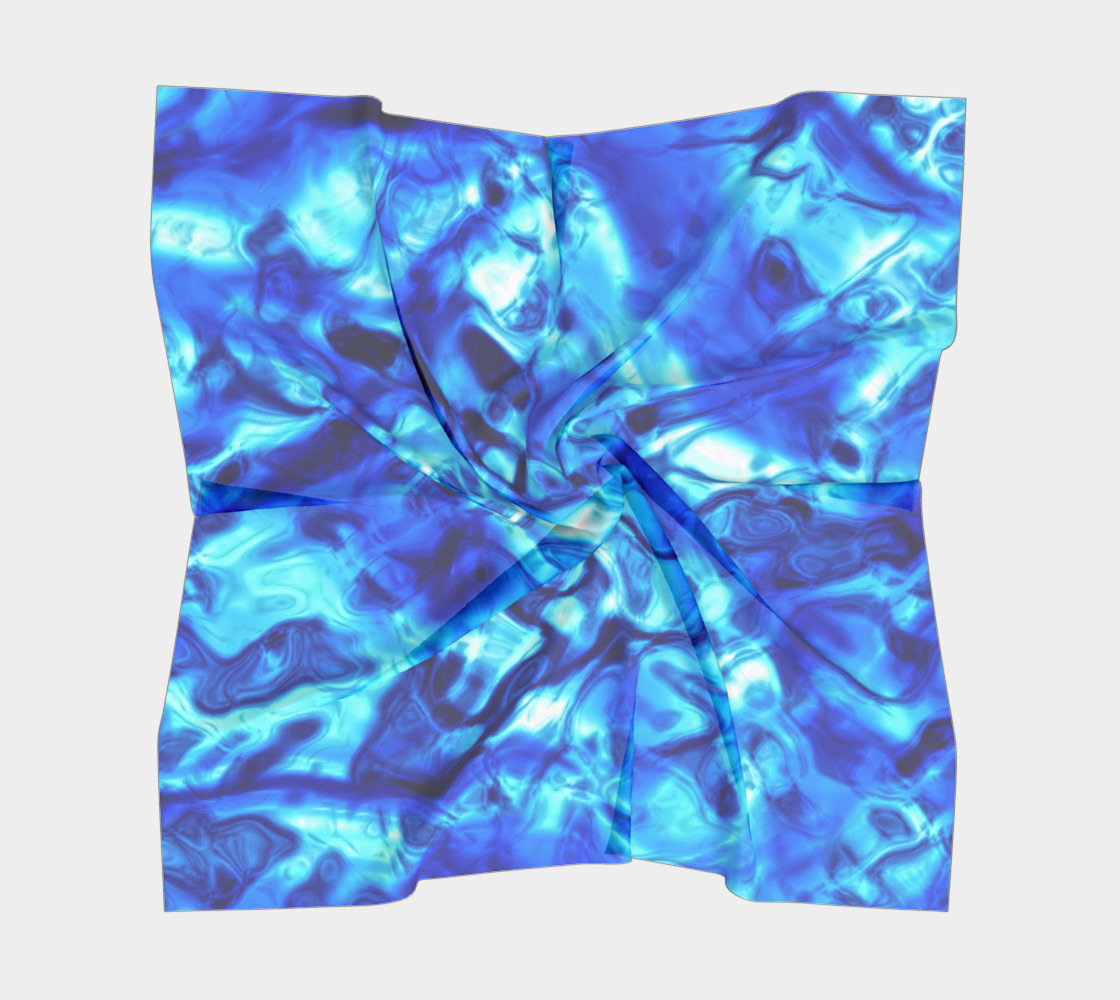 Glistening Blue Water Texture Big Square scarf Miniature #6