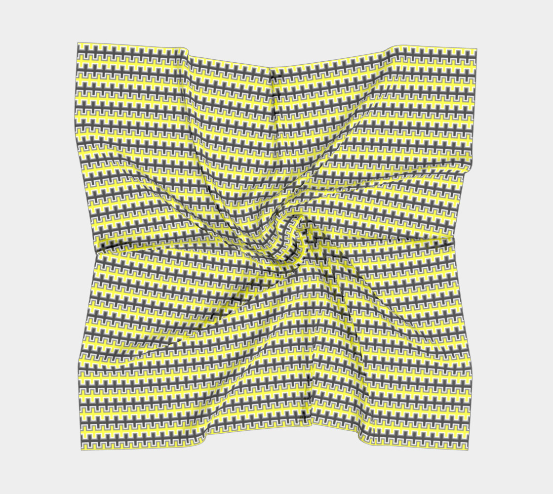 Black, Yellow, Grey, and White Southwest Blanket preview #5