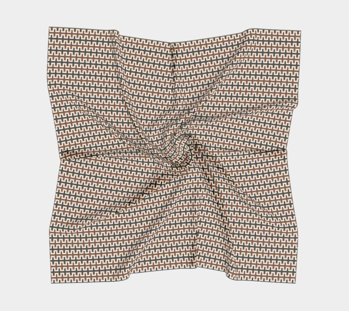Aperçu de Black, Brown, Camel Brown, and White Southwest Blanket #5