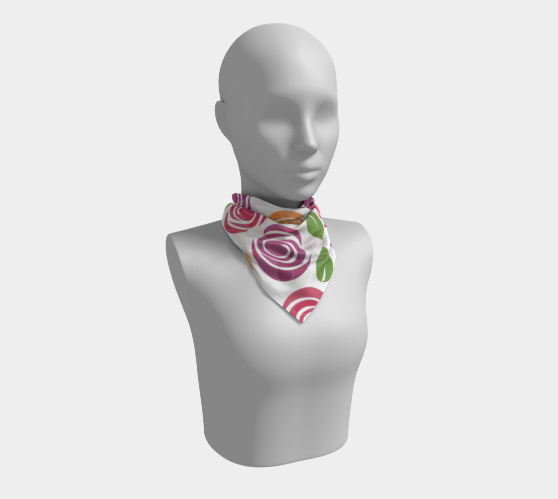Abstract Roses Square Scarf preview #1