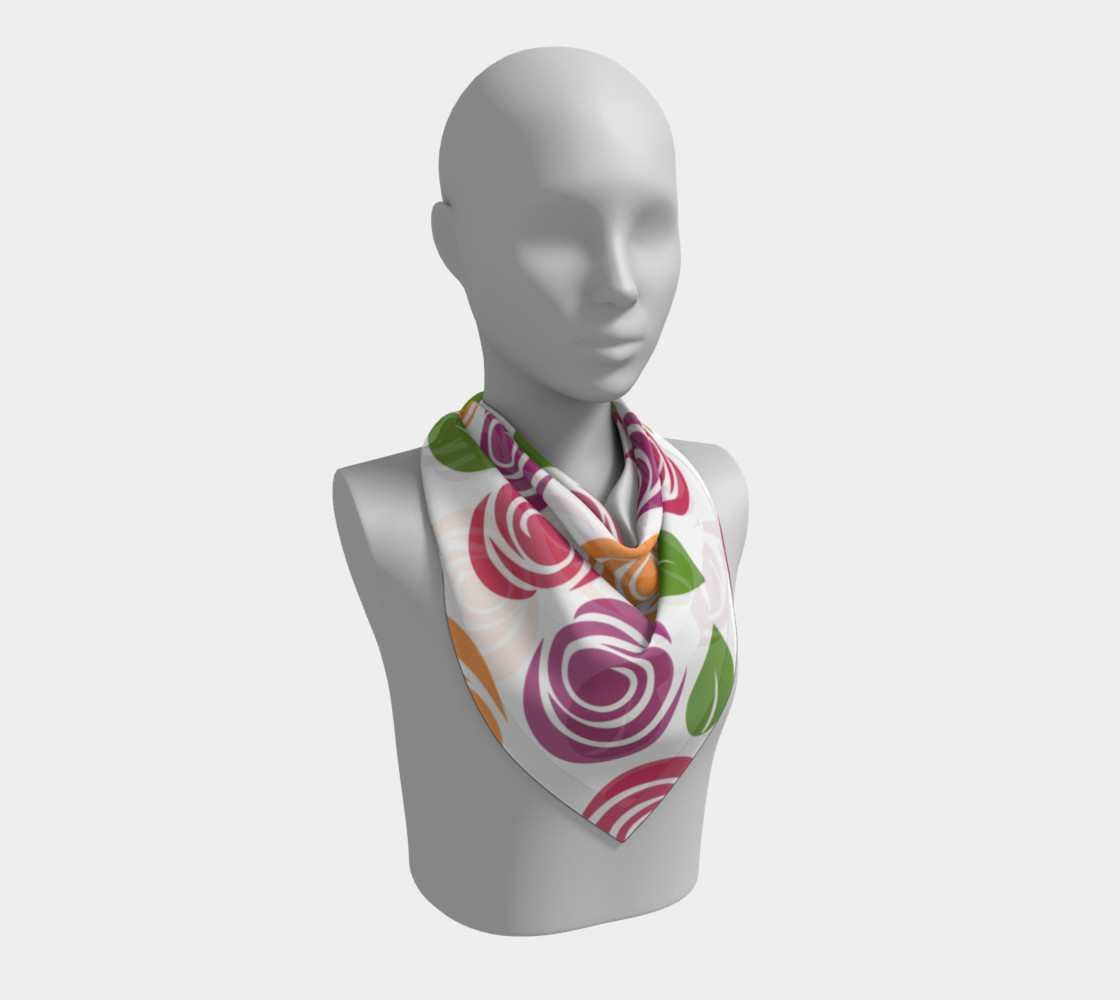 Abstract Roses Square Scarf preview #2