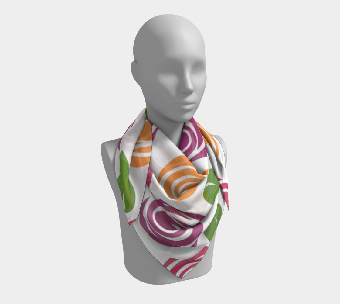Abstract Roses Square Scarf preview #3