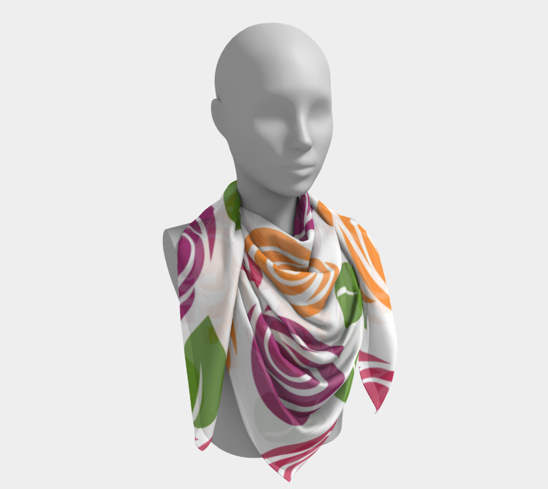Abstract Roses Square Scarf preview #4