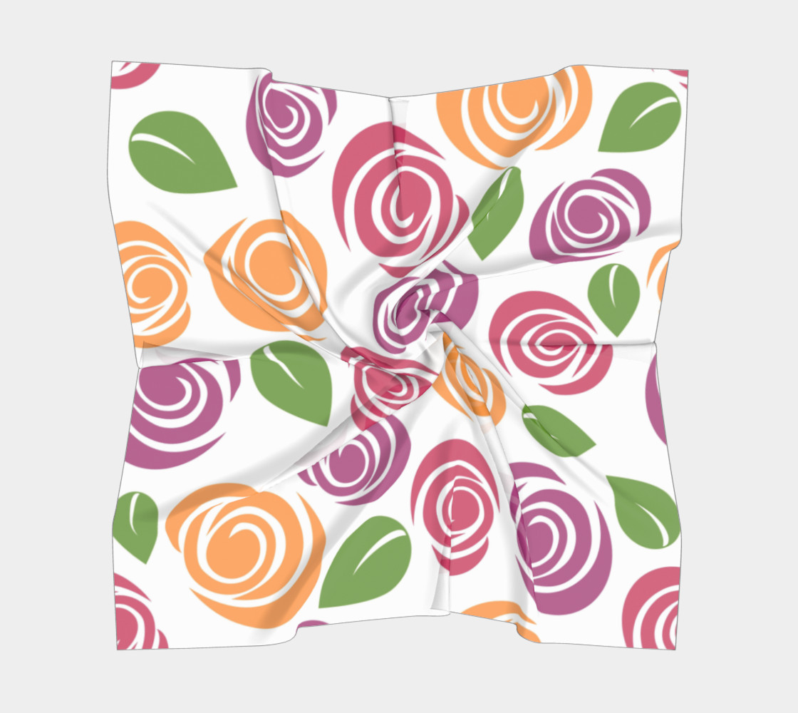 Abstract Roses Square Scarf preview #5