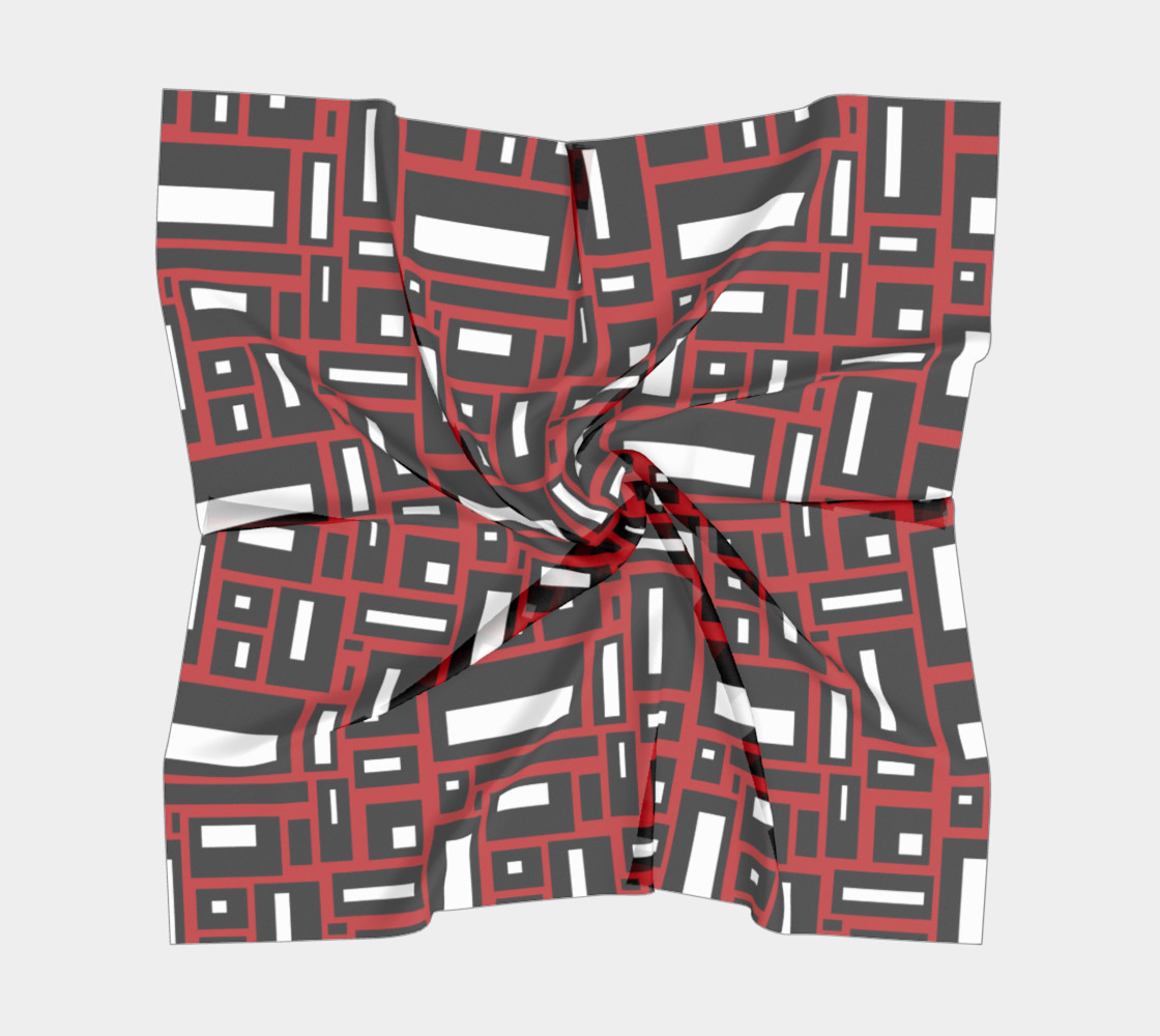 Simple Geometric in Black, White and Red 1 preview #5