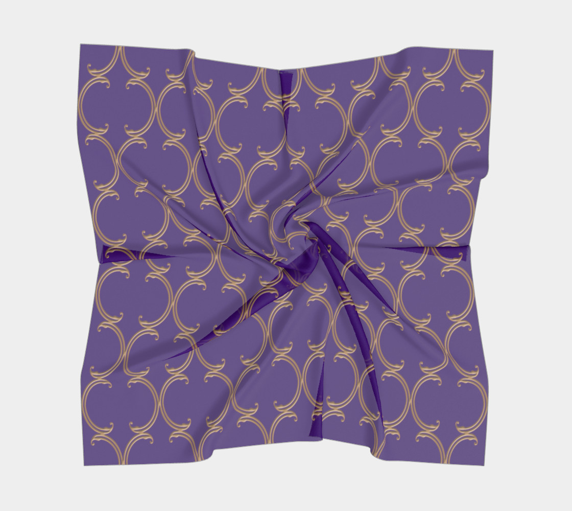 Moroccan Lattice in Purple and Faux Gold preview #5