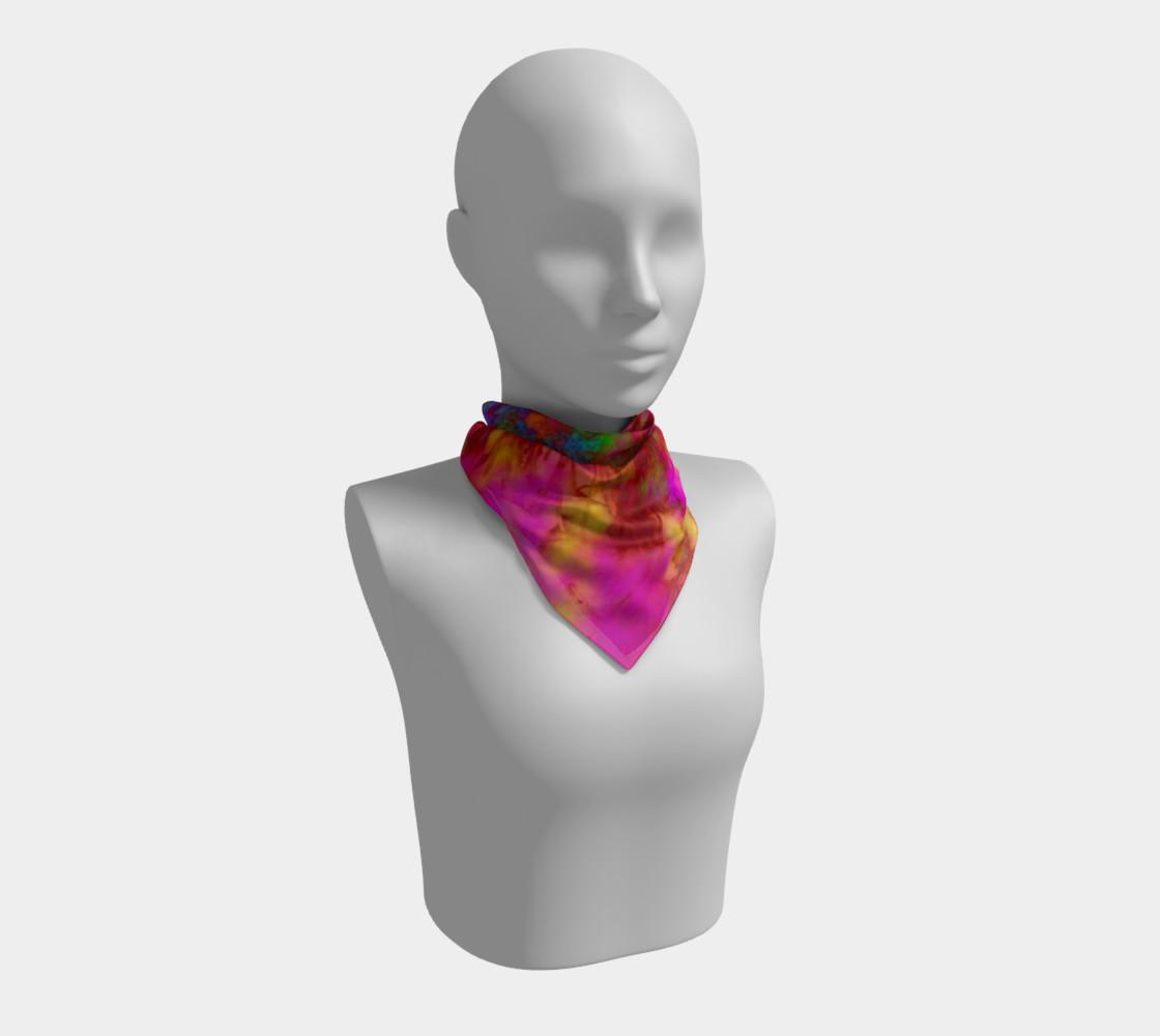 Aperçu de Neon Branches silk scarf #1