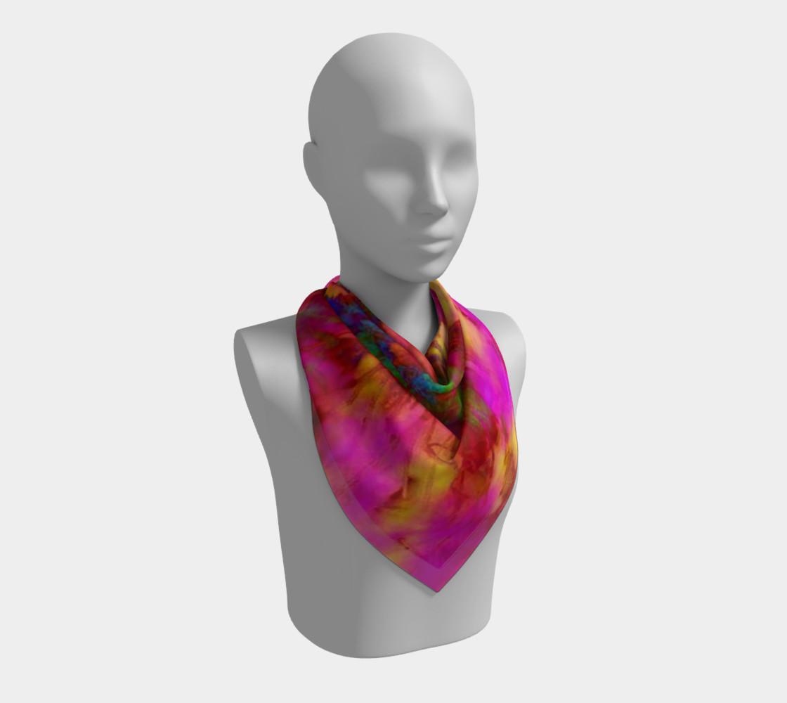 Aperçu de Neon Branches silk scarf #2