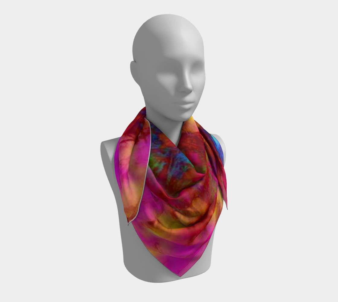 Neon Branches silk scarf preview #3