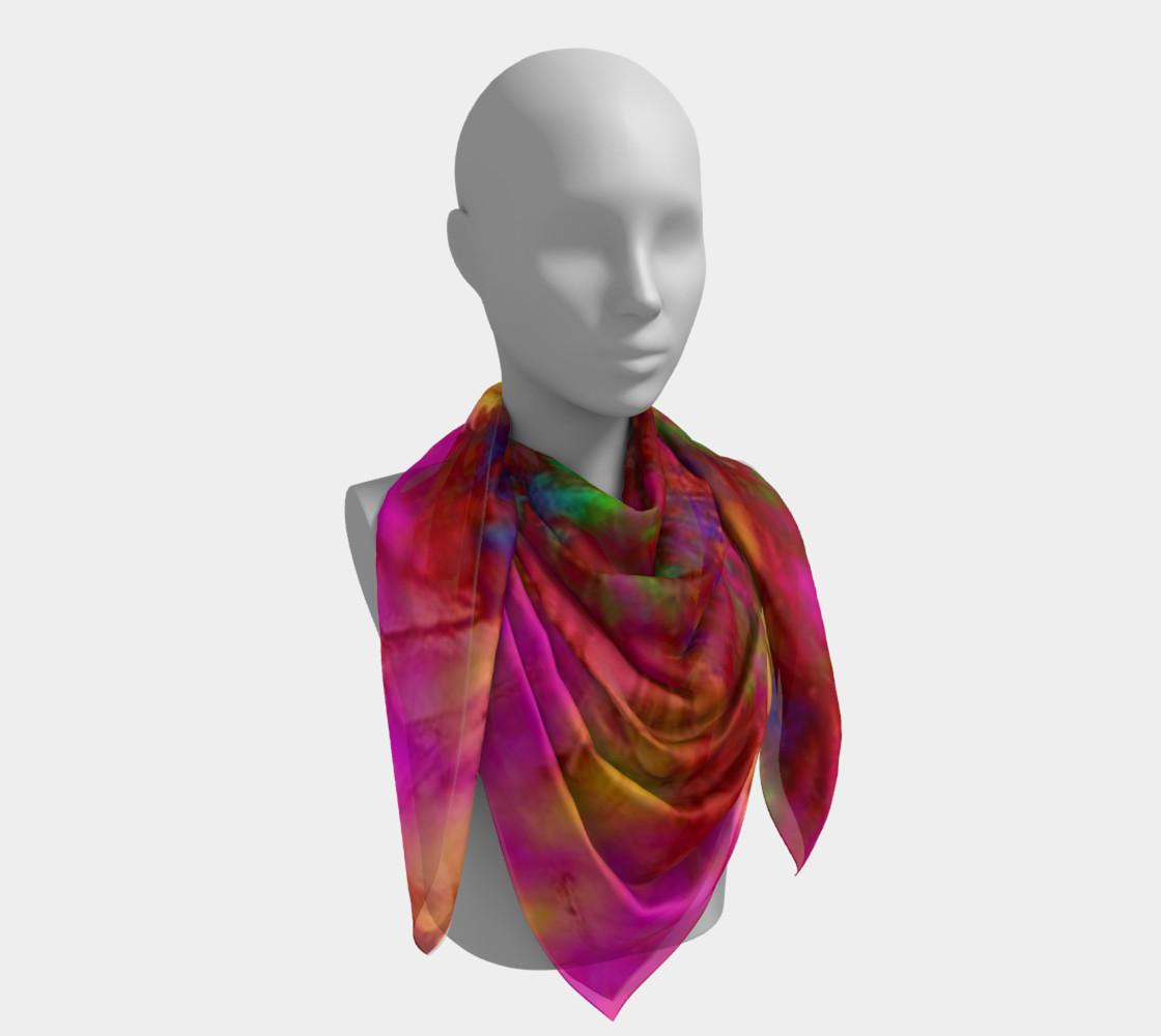 Aperçu de Neon Branches silk scarf #4