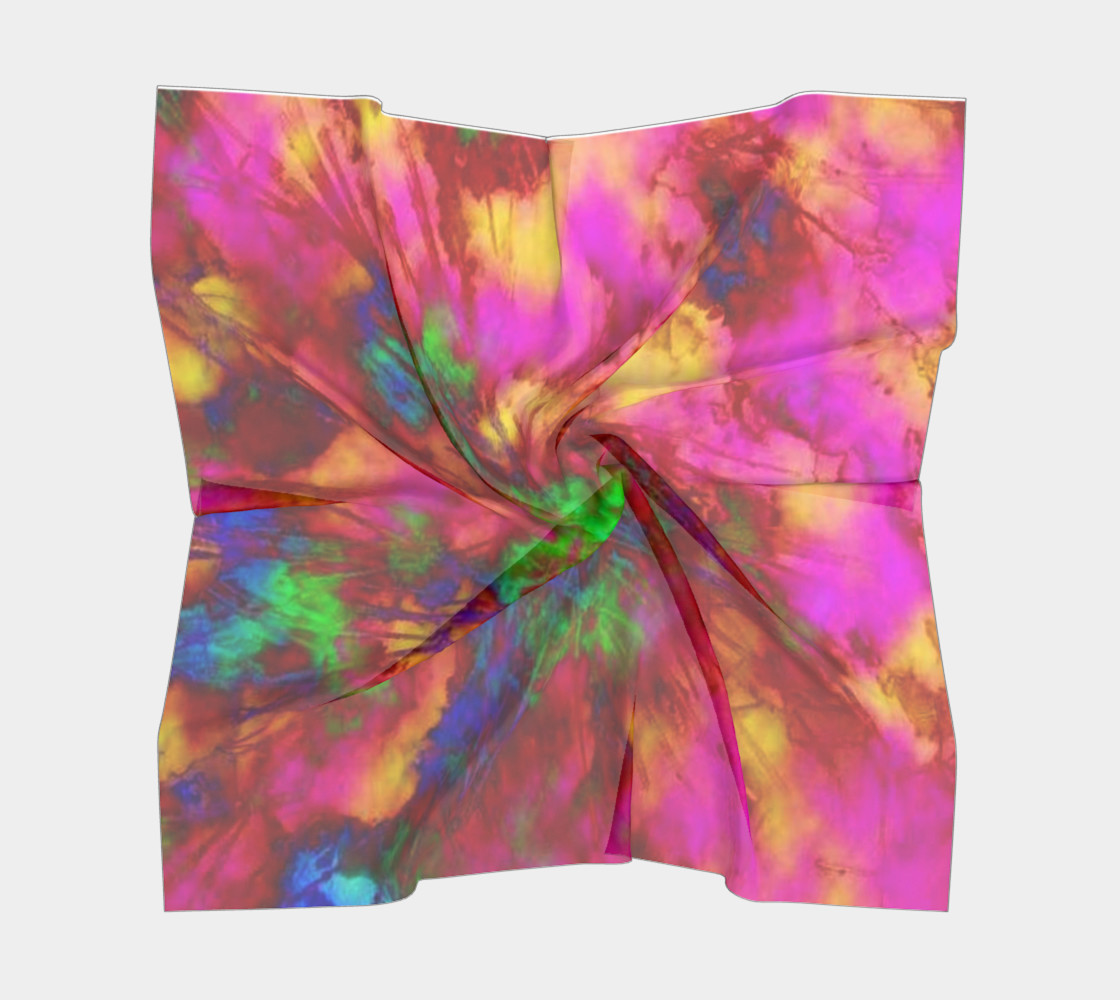 Aperçu de Neon Branches silk scarf #5