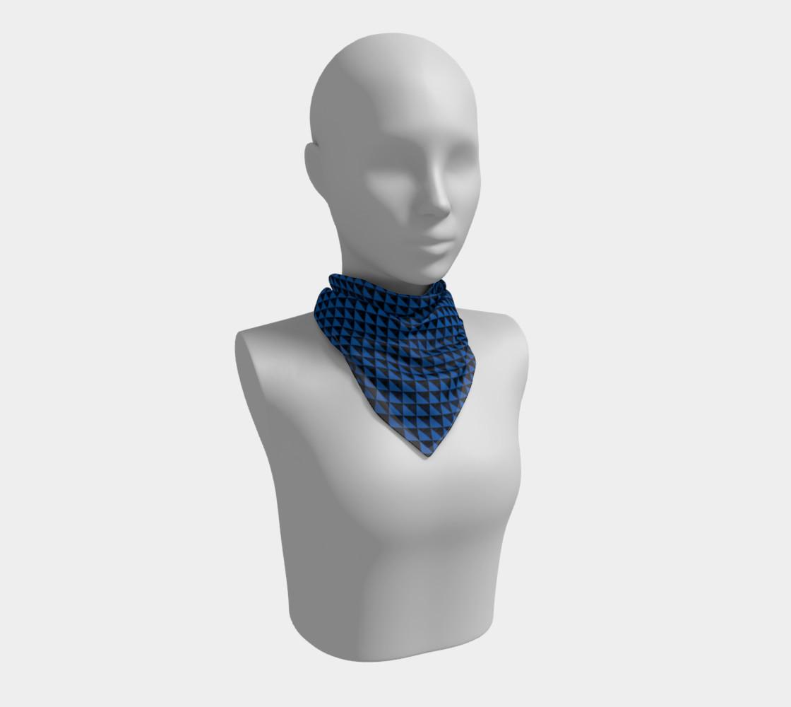 Aperçu de Black and Turquoise Blue Triangles #1