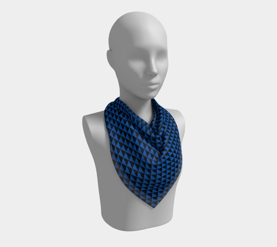 Aperçu de Black and Turquoise Blue Triangles #2