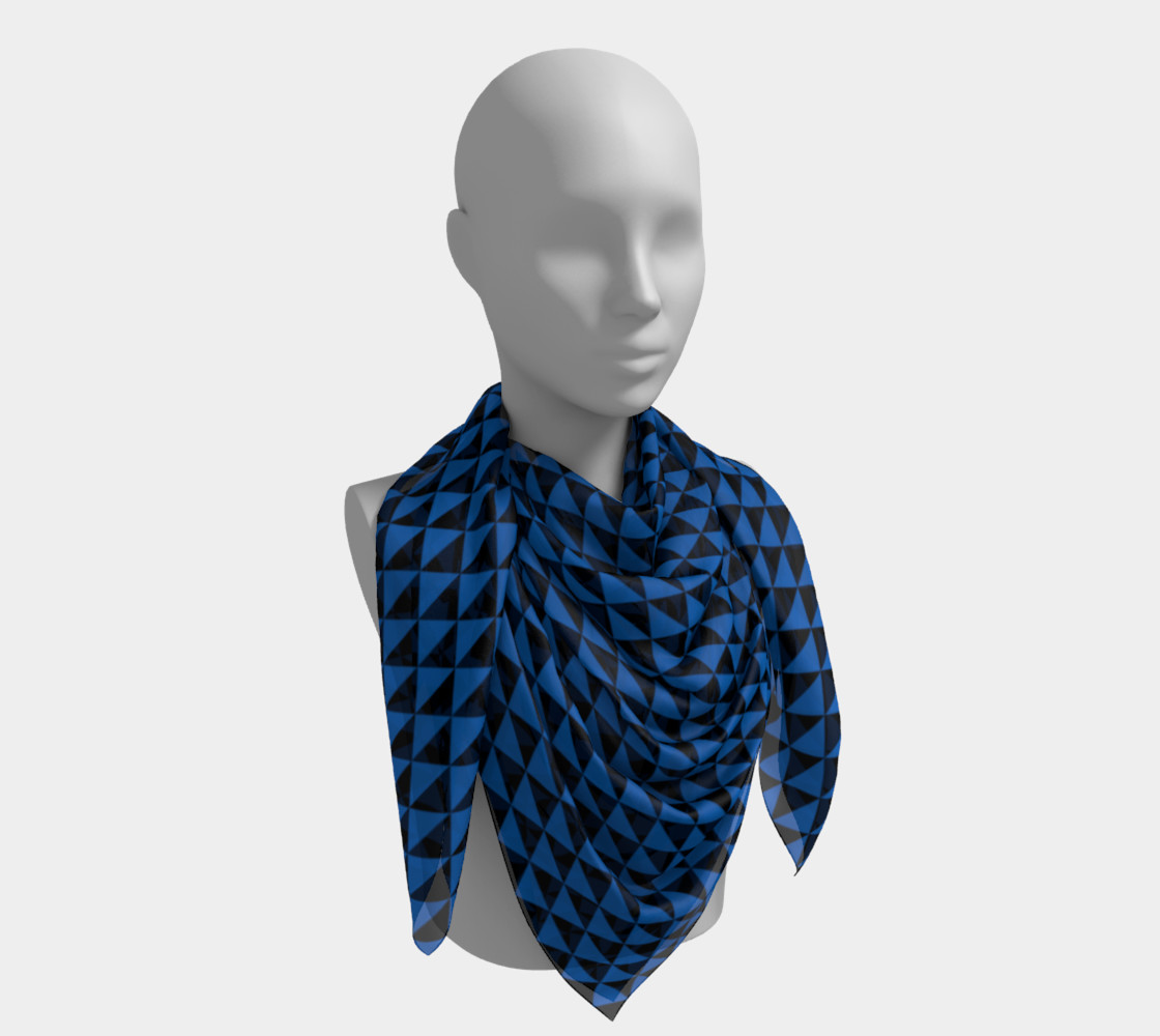 Aperçu de Black and Turquoise Blue Triangles #4