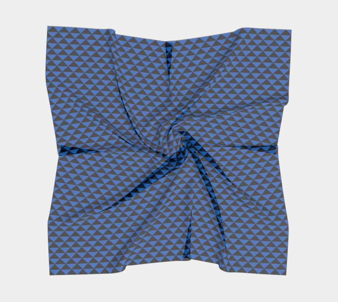 Aperçu de Black and Turquoise Blue Triangles #5