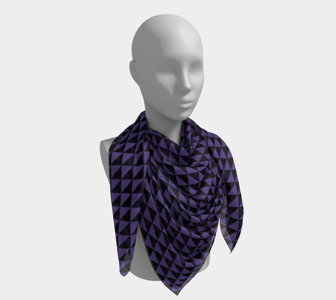 Black and Ultra Violet Purple Triangles preview #4