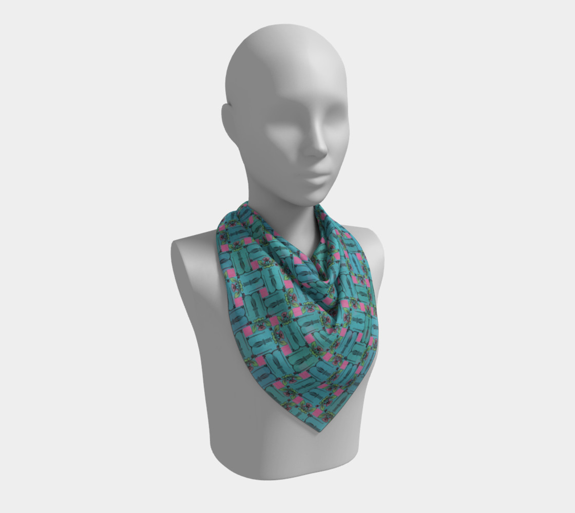 Charming Weave Square Scarf preview #2
